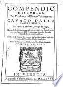 Compendio historico del V. e del N. Testam