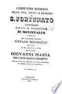 Compendio istorico della vita, virtù, e miracoli di S. Fortunato