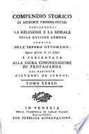 Compendio Storico Di Memorie Cronologiche Concernenti La Religione E La Morale Della Nazione Armena Suddita Dell'Imperio Ottomano