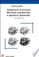 Complementi di macchine. Macchine volumetriche e operatrici dinamiche