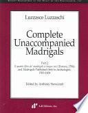 Complete unaccompanied madrigals