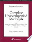 Complete Unaccompanied Madrigals, Part 2