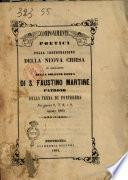 Componimenti poetici pella inaugurazione della nuova chiesa in occasione della solenne festa di S. Faustino martire patrono della terra di Pontedera nei giorni 6, 7, 8 e 9, agosto 1864