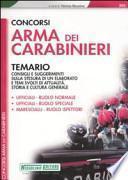 Concorsi Arma dei carabinieri. Temario