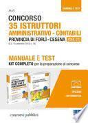 Concorso 35 Istruttori amministrativo-contabili Provincia di Forlì-Cesena (CAT. C1)