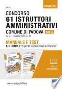 Concorso 61 Istruttori amministrativi comune di Padova