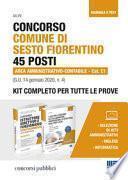 Concorso Comune di Sesto Fiorentino 45 posti Area amministrativo-contabile Cat. C1 (G.U. 14 gennaio 2020, n. 4). Kit completo per tutte le prove