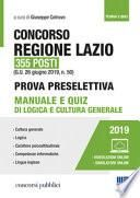 Concorso Regione Lazio 355 posti