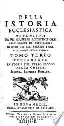 Contenente La Storia Del Terzo Secolo Della Chiesa