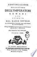 Continuazione della Storia degl'Imperatori Romani