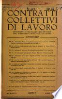Contratti collettivi di lavoro supplemento del Bollettino Ufficiale del Ministero delle Corporazioni