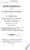 Convenzione tra il governo francese e S.S. Pio VII