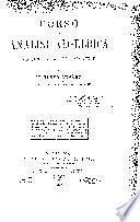 Corso di analisi algebraica con introduzione al calcolo infinitesimale