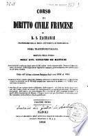 Corso di diritto civile francese