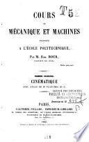 Cours de mécanique et machines