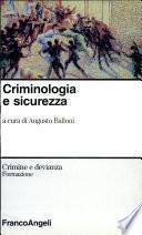Criminologia e sicurezza
