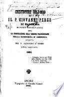 Cristoforo Colombo ed il P. Giovanni Perez di Marchena, Minore osservaante