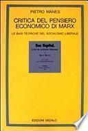 Critica del pensiero economico di Marx