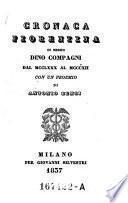 Cronaca fiorentina di Messer Dino Compagni dal MCCLXXX al MCCCXII