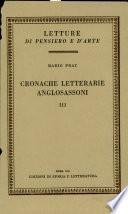 Cronache letterarie anglosassoni, vol. III