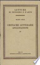 Cronache letterarie anglosassoni, vol. IV