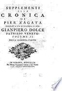 Cronica della citta' di Verona