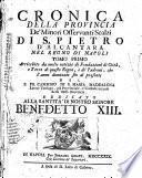 Cronica della provincia de'minori osservanti scalzi di S. Pietro d'Alcantara nel Regno di Napoli ... del P. Fr. Casimiro di S. Maria Maddalena ..