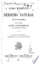 Curso elemental de derecho natural para uso de las escuelas