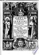 David penitente; lezzioni sopra il cinquantesimo salmo di David