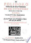 De gli inventori delle cose, libri 8