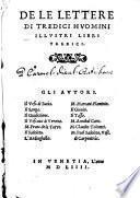 De Le Lettere Di Tredici Hvomini Illvstri Libri Tredici