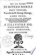 De le Rime di diversi nobili poeti toscani libro primo (-secundo)...