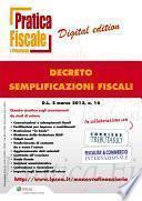 Decreto semplificazioni fiscali