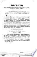 Decreto sull'abolizione delle sostituzioni ed altri vincoli contro la libertà de' beni