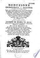 Deduzione chronologica e auralitica...Traduzione dell'originale portoghese pubblicato..