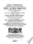 Degli Albanesi, Chiese Greche Moderne, E Collegio Greco In Roma