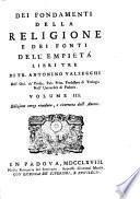Dei Fondamenti Della Religione E Dei Fonti Dell' Empietà