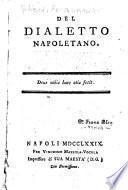 Del dialetto napoletano