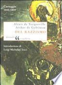 Del razzismo. Carteggio (1843-1859)