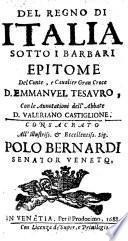 Del regno di Italia sotto i barbari epitome con le annotationi di Valeriano Castiglione