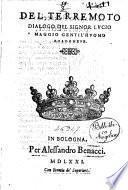 Del terremoto dialogo del signor Lucio Maggio gentil'huomo bolognese