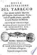 Della coltivazione del tabacco