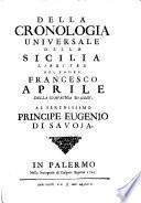 Della cronologia universale della Sicilia libri tre (etc.)