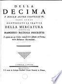 Della decima e di varie altre gravezze imposte dal comune di Firenze