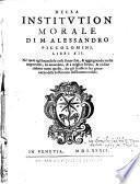 Della Institutione morale Lib. 12