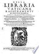 Della Libraria Vaticana Ragionamenti