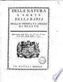 Della natura e sorte della badia della SS. Trinita e S. Angelo di Mileto [Natale Maria Cimaglia]