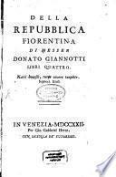 Della repubblica Fiorentina