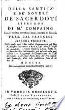 Della Santita E De Doveri Sacerdoti
