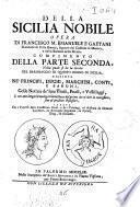 Della Sicilia nobile opera di Francesco Maria Emanuele e Gaetani